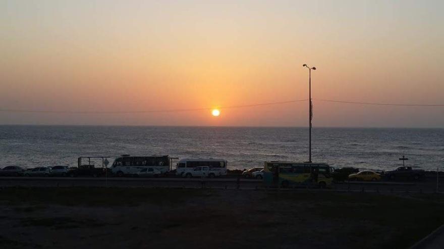 Pôr do sol em Cartagena - Colômbia