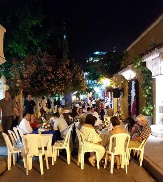Ruas no revéillon de Cartagena - Colômbia